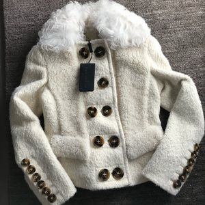 e9f385b2e8fe Burberry Jackets   Coats - Burberry Prorsum Alpaca And Shearling Jacket